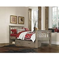 NE Kids Highlands Harper Twin Slat Storage Bed in Driftwood