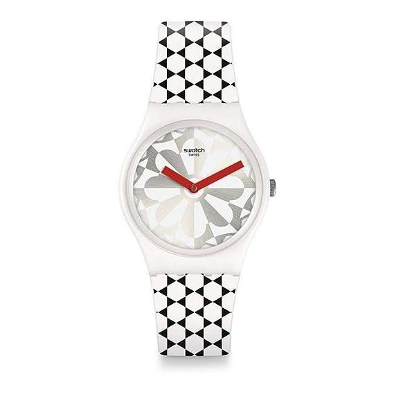 Swatch Reloj Analogico para Unisex de Cuarzo con Correa en Silicona GW186: Amazon.es: Relojes