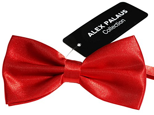 Chilli Collection (Stylish Designer Bow Ties - Pre Tied, Adjustable Unisex Bowtie for Men, Women, Boys and Girls by Alex Palaus Collection (TM) (Red Chilli))