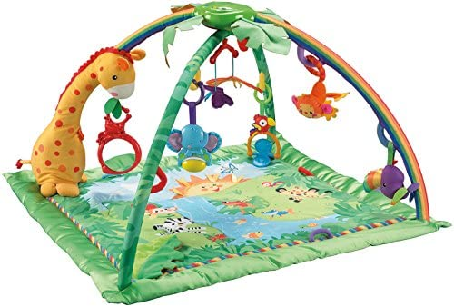 4c95556e9fab7 Amazon.com   Fisher-Price Rainforest Melodies and Lights Deluxe Gym   Early  Development Playmats   Baby