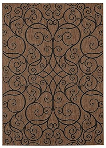 Balta Rugs 30876980.240305.1 Ellenton Brown Indoor/Outdoor Area Rug, 8' x 10' (Brown Indoor Outdoor Rug)
