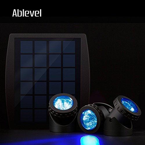 Ablevel Solar Energy Powered LED Spotlight Available for Outdoor Garden Pool Pond Spot Lamp Light (3 Blue)