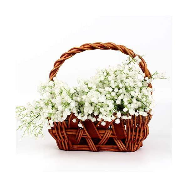 Babys Breath Flowers 10pcs Artificial Gypsophila Bouquets Real Touch Flowers for Wedding Home DIY Decor