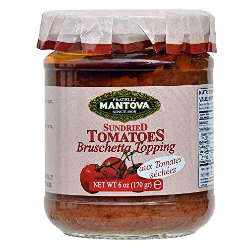 (Mantova Bruschetta Sundried Tomatoes, 6-Ounce Bottles (Pack of 4))