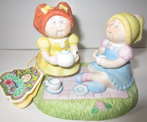 Cabbage Patch Kids Tea for Two Porcelain Figurine 1984