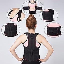 MEDIZED Adjustable Posture Corrector Back Support Shoulder Back Waist Support Brace Belt for Men and Women (Medium)