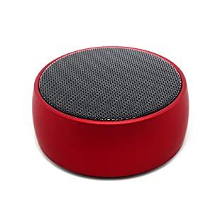 SODYSNAY Q8 Mini Bluetooth Speaker, with 9 Hour Playtime, 39-Foot Bluetooth Range Dual-Driver Portable Wireless Speaker with Low Harmonic Distortion and Superior Sound,Monitor, Speaker -Red