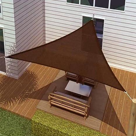 Hogar Moderno Vela de Sombra Triangular (16,5 Lados) - Chocolate ...