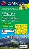Sellagruppe - Gröden - Seiseralm / Gruppo di Sella - Val Gardena - Alpe di Siusi: Wanderkarte mit Kurzführer dt. /ital., Radwegen und alpinen ... 1:50000 (KOMPASS-Wanderkarten, Band 59)