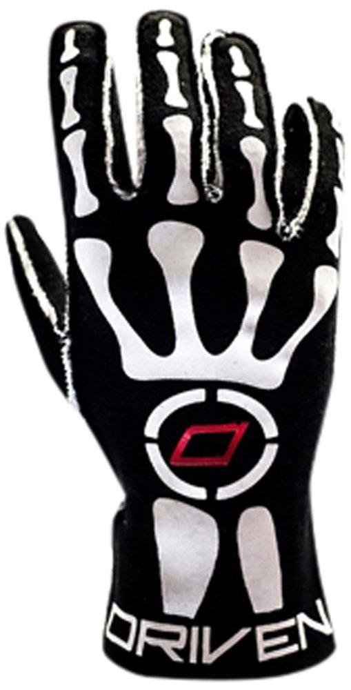 Driven Motorsport Men's Skeleton Gloves (Black, X-Large)