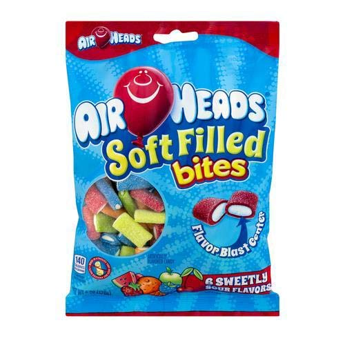 Airhead Soft Filled Bites, Non Melting, 6 -