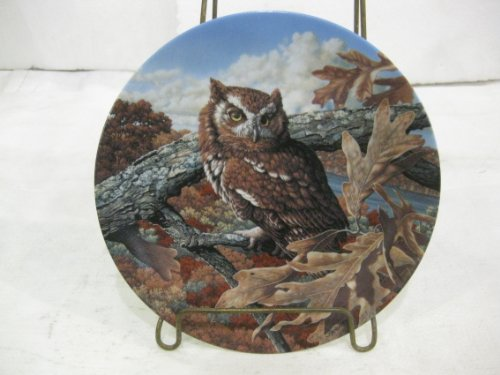 Edwin M Knowles The Eastern Screech Owl Fourth Issue In The Stately Owls Series Decorative Plate ()