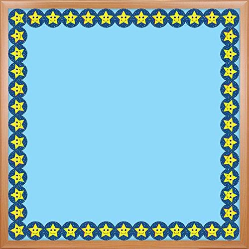 Hygloss Borde Troquelado para Aula, Estrellas (Smiling Stars), Multicolor, 91,44cm, 1