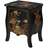 Convenience Concepts Touch of Asia 3-Drawer End Table, Black