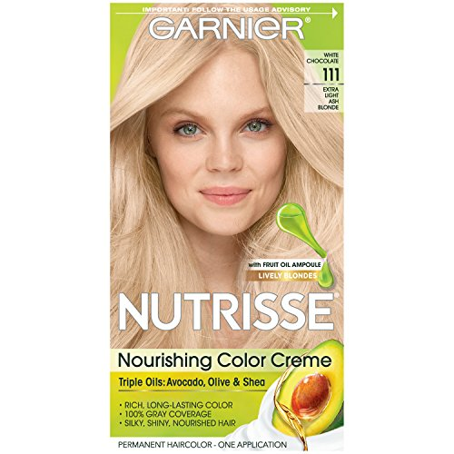 Garnier Nutrisse Nourishing Hair Color Creme, 111 Extra-Light Ash Blonde (White Chocolate)  (Packaging May Vary)