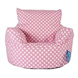 Lounge Pug - CHILDRENS Armchair - Kids Bean Bags UK - Print - PINK Spot