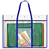 Extra Large Bulletin Board Storage Bag (31''x25''), Opret Posters Organizer Transparent Storage Bag for Artworks, Charts and Teaching Material
