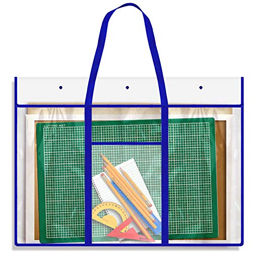 Large Bulletin Board Storage Bag (31 x 25 inch), Opret Posters Organizer Transparent Storage Bag for Artworks, Charts and Teaching ()
