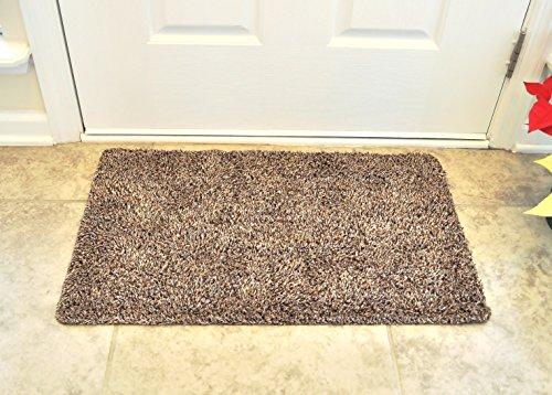 """Floor Mat Super Absorbing Door Mat, Eco Friendly Rubber Backing Non Slip Mat ideal as Welcome Mat, Bath Mat, Kitchen Mat, Mud Mat, Cotton + Microfiber aprox 18"""" x 30"""" - Piso Beach"""