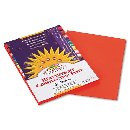 SunWorks - Construction Paper, 58 lbs., 9 x 12, Orange, 50 Sheets/Pack 6603 (DMi PK