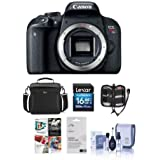 Canon EOS Rebel T7i DSLR Camera Body - Bundle With Camera Case, 16GB SDHC Card, Screen Protector, Cleaning Kit, Memory Wallet, Software Package