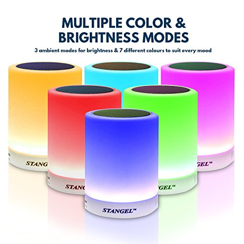 Bedside Lamp Speaker - Premium LED wireless bluetooth speakers, portable night light with LED, wireless light speakers, cordless bluetooth speaker ,sleeping Aid, table lamp,Gift Wrap, audio for iphone