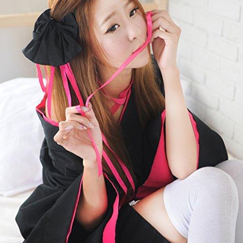 de Magideal Mujeres Capa de Traje Noche Negro Vestido de Japonés Falda Lujo Anime Traje qUpUgS5