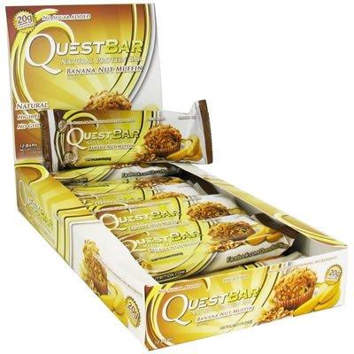 Quête Nutrition Bar, muffin banane noix, Gf, 2.12 Oz (Valeur vrac multi-pack)