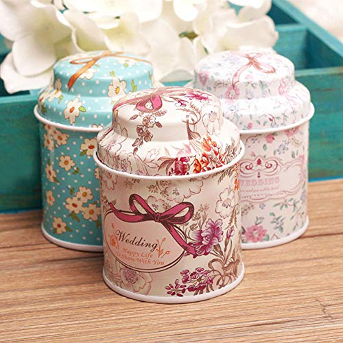 Dds5391 New Retro Home Kitchen Metal Sugar Coffee Tea Container Flower Storage Jar Pot Gift