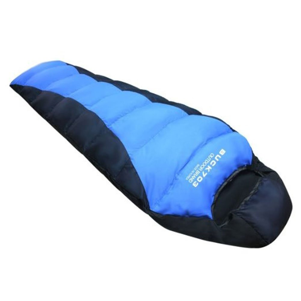 Amazon Buck703 Goose Down Sleeping Bag Xl For Outdoor Camping Blue Sports Outdoors