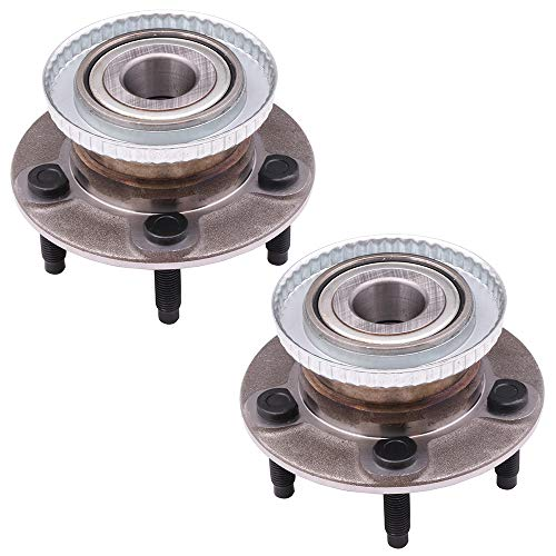 SCITOO Compatible with Wheel Bearing and Hub Assembly OE 512107 for Ford Taurus Lincoln Continental Mercury Sable Wheel Hub Bearing 5 Bolts W/ABS (2 - Lincoln Wheel Continental Rear