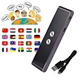 Smart Language Translator Device, Handheld Voice Simultaneous Speech Translation Tool English Chinese French Spanish Japanese German 34 Languages for Travel Learning Business Meeting (Grey)