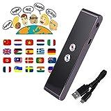 Smart Language Translator Device, Handheld Voice Simultaneous Speech Translation Tool English Chinese French Spanish Japanese German 34 Languages for Travel Learning Business Meeting (Grey)