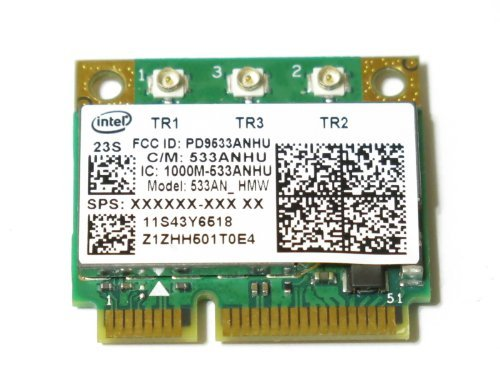 Intel 5300 Mini Pci-e Card AGN Wireless Wifi 802.11a/b/g/draft-n1 450 Mbps Half for IBM Thinkpad Lenovo ()