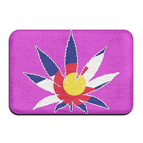 Colorado State Flag Pot Leaf Good Kitchen Rug ,Antislip Shoe Scraper Doormat For Pet Feeding - Little Colorado Vanity