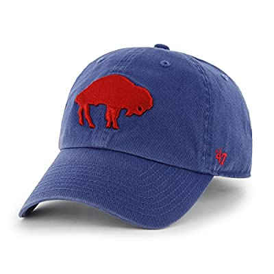 Buffalo Bills 47 Brand NFL Royal Blue Throwback Clean Up Adjustable Hat from 47 Brand