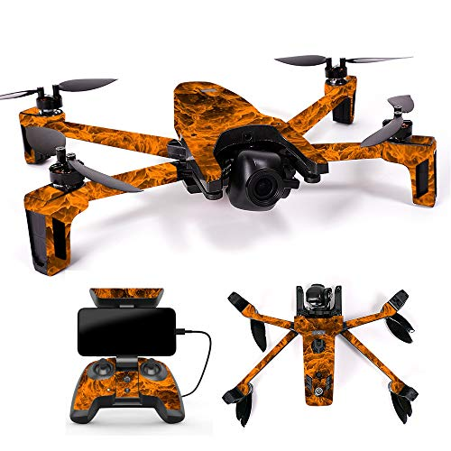 MightySkins Skin for Parrot Anafi Drone - Burning Up | Protective, Durable, and Unique Vinyl Decal wrap Cover | Easy to Apply, Remove, and Change Styles | Made in The USA