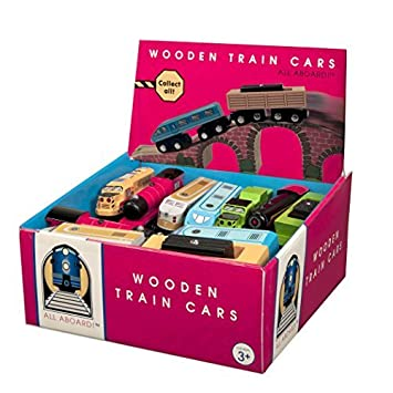 Amazon.com: Selection of 6 Battat All Aboard Wooden Railway Train ...