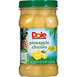 #10: Dole Pineapple Chunks in 100% Juice, 23.5 Ounce Jar