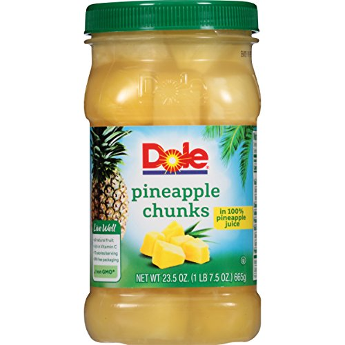 Dole Pineapple Chunks in 100% Juice, 23.5 Ounce Jar