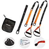 Fitness Exercise Equipment Bodyweight Suspension Training Kit Resistance Bands Trainer Kit Home Gym Bundle Workout Bands Training System | Training Straps for Full Body Exercises + Wall Mount Bracket