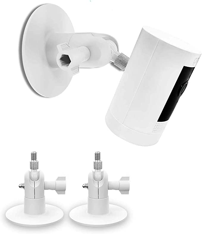 Screwless Wall Mount Kit For Arlo Pro 3 Arlo Pro 2 Arlo Ultra Ring Stick Up Cam Ring Indoor Cam Easy To Install No Drilling Strong Adhesive Holder 2 Pack White Baumarkt