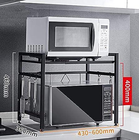 Rejilla telescópica de cocina, repisa para microondas, rejilla de almacenamiento de horno para cocinas de arroz en el piso, Estilo:B1: Amazon.es: Hogar