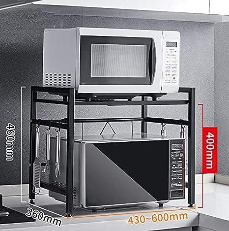 shelf Rejilla telescópica de Cocina, repisa para microondas ...
