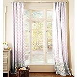 Carousel Designs Pink and Gray Primrose Drape Panel 96-Inch Length Standard Lining 42-Inch Width