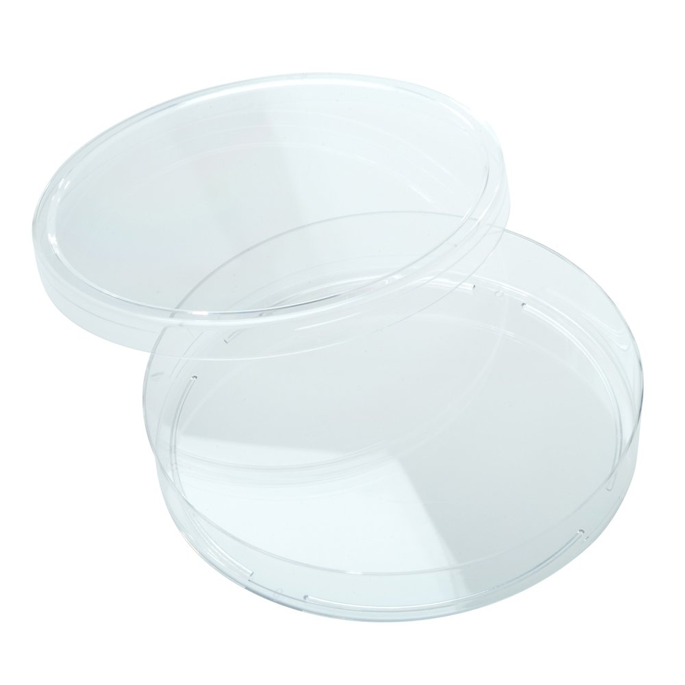 Celltreat 229697 Petri Dish, Slippable, Sterile, 100 mm x 15 mm, 25 per Bag, Clear (Pack of 500)