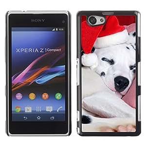 YOYO Slim PC / Aluminium Case Cover Armor Shell Portection //Christmas Holiday Cute Holiday Puppy Dog 1135 //Sony Xperia Z1 Compact