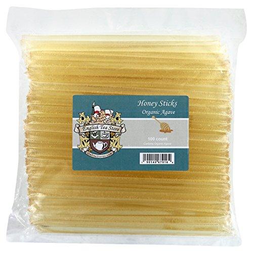 (English Tea Store Organic Honey Sticks, Agave, 1.3 Pound)