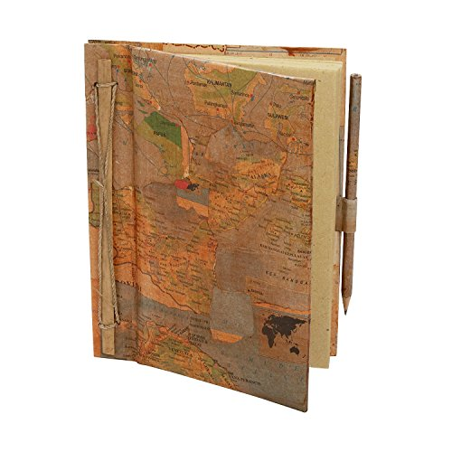 Recycled Maps and Handmade Paper Journal 'Longitude Journal'