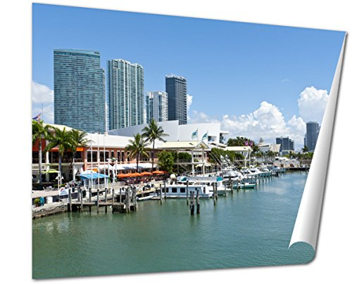 Ashley Giclee Fine Art Print, Miami Bayside Marketplace, 16x20, - Downtown Mall Miami